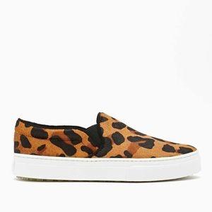 SCHUTZ Amisha Leopard Print Platform Sneakers